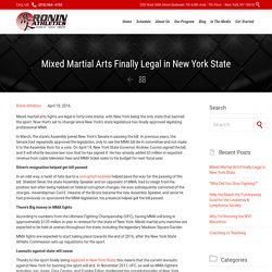 New York State and Pro MMA Becoming Legal
