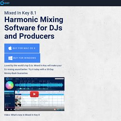 Mixed In Key - DJ Software for Harmonic Mixing