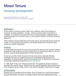 MIXED TENURE
