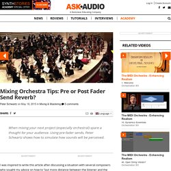 Mixing Orchestra Tips: Pre or Post Fader Send Reverb?