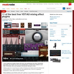 11 of the best free VST/AU mixing effect plugins