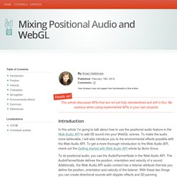 Mixing Positional Audio and WebGL