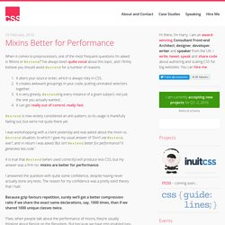 Mixins Better for Performance