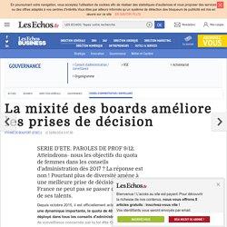 La mixité des boards améliore les prises de décision, Conseil d'administration / surveillance