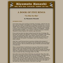 """Miyamoto Musashi - """"Go Rin No Sho"""" - A Book of Five Rings by Miyamoto Musashi"""