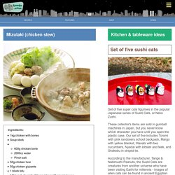 Mizutaki (chicken stew) - Bento.com