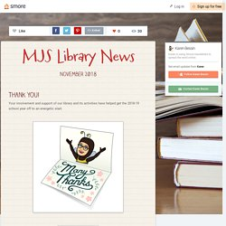 MJS Library News (from our own Karen!)