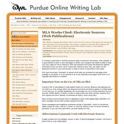 OWL: MLA Formatting and Style Guide
