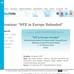 "Seminar ""NFE in Europe Reloaded"""