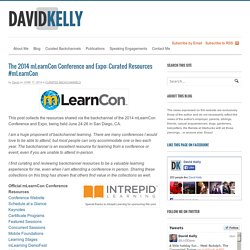 The 2014 mLearnCon Conference and Expo: Curated Resources #mLearnCon