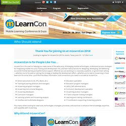 mLearnCon 2014 · Mobile Learning Conference & Expo · Who Should Attend