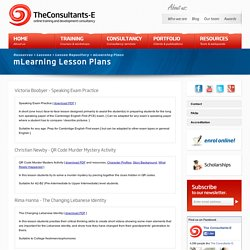 Mobile or mLearning Lesson Plans