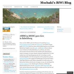 #MMC13 MOOC goes Live in Babelsberg
