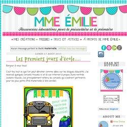 Mme Émilie: maternelle