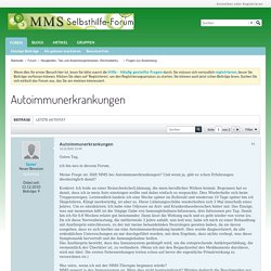 Autoimmunerkrankungen - MMS Selbsthilfe Forum