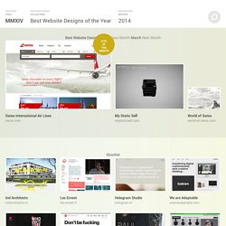 Best Website Designs of the Year 2014