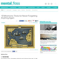 10 Mnemonic Tricks for Never Forgetting Anything Again