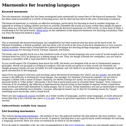 Mnemonics for learning languages