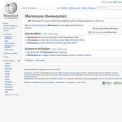 Mnémosyne (homonymie)