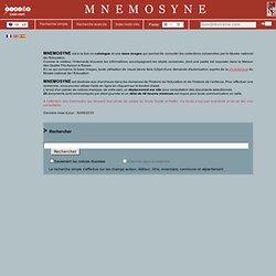 Base de données Mnemosyne - INRP - Musée national de l'Education