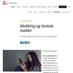 Mobbing og Sosiale medier - Mental Helse