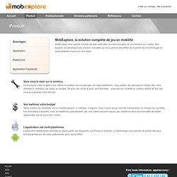 MobExplore - Créez des jeux sur mobile