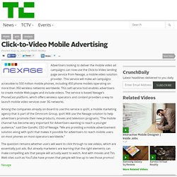 Click-to-Video Mobile Advertising