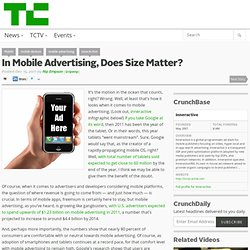 In Mobile Advertising, Does Size Matter?
