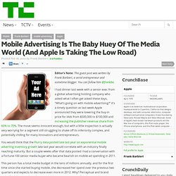 Mobile Advertising Is The Baby Huey Of The Media World (And Apple Is Taking The Low Road)