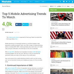 Top 5 Mobile Advertising Trends To Watch