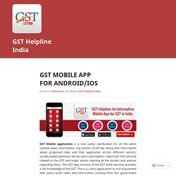 GST Mobile App For Android/IOS