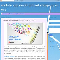 mobile app development company in usa: Mobile App Development Company In USA