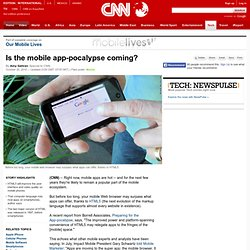 Is the mobile app-pocalypse coming?