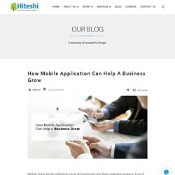 How Mobile Application Can Help A Business Grow