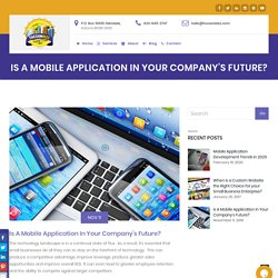 Is A Mobile Application In Your Company's Future