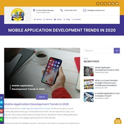 Mobile Application Development Trends in 2020 - Tucson Bizz