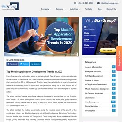Top Mobile Application Development Trends in 2020