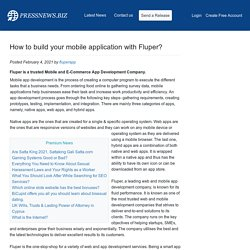 How to build your mobile application with Fluper?