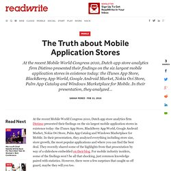 The Truth about Mobile Application Stores