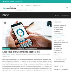 Ease your life with mobile application - Rank Your Website