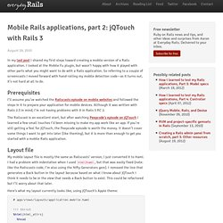 Mobile Rails applications, part 2: jQTouch with Rails 3
