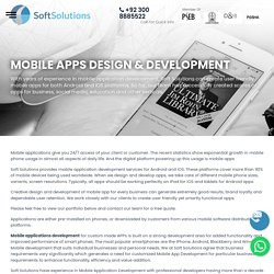 MOBILE APPS DESIGN & DEVELOPMENT
