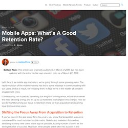 Mobile Apps: What's A Good Retention Rate?