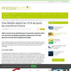 Free Mobile atteint les 10 % de part du marché en France