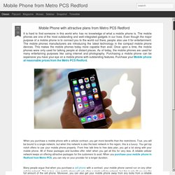 Mobile Phone from Metro PCS Redford: Mobile Phone with attractive plans from Metro PCS Redford