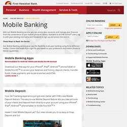 Mobile Banking - First Hawaiian Bank