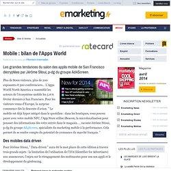 Mobile : bilan de l'Apps World