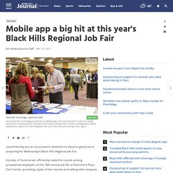 Mobile app a big hit at this year's Black Hills Regional Job Fair