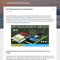 How Mobile Apps Boost Your Online Business?