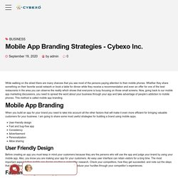 Mobile App Branding Strategies - Cybexo Inc.